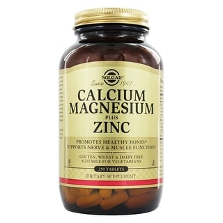 Solgar Calcium Magnesium Plus Zinc (250 Tablets)