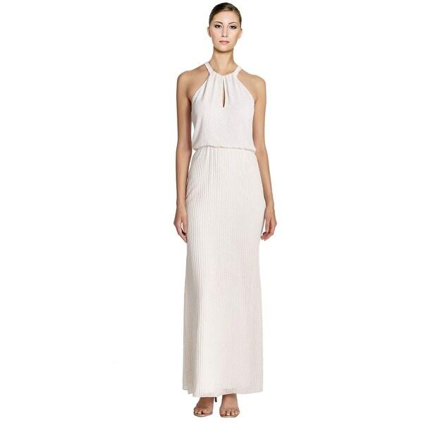 ffc9a2ca37887 Shop Parker Black Marceline Embellished Keyhole Halter Evening Gown ...