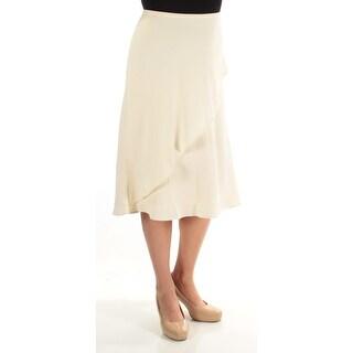 RALPH LAUREN $115 Womens New 1273 Ivory Below The Knee Pencil Skirt 14 B+B