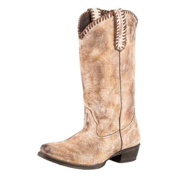Roper Western Boots Womens Whip It Leather Tan