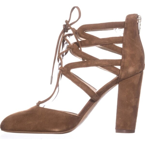 Marc Fisher Womens SHELLIE Leather Closed Toe Ankle Wrap Classic Pumps