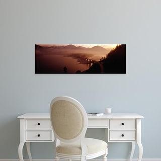 Easy Art Prints Panoramic Images's 'Sylvenstein Lake with Bridge Bavaria Germany' Premium Canvas Art