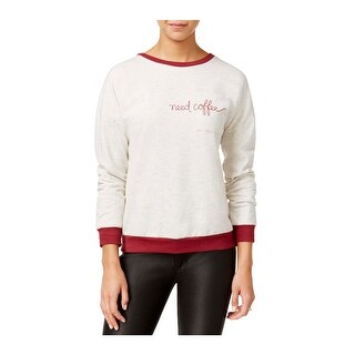 Rebellious One Womens Juniors Pullover Sweater Need Coffee Long Sleeves - M