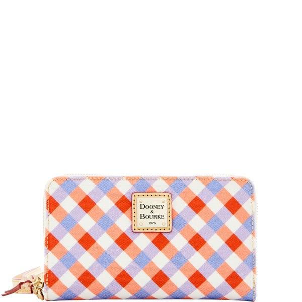 Dooney & Bourke Elsie Zip Around Phone Wristlet (Introduced by Dooney & Bourke at $108 in Apr 2016) - geranium lavender