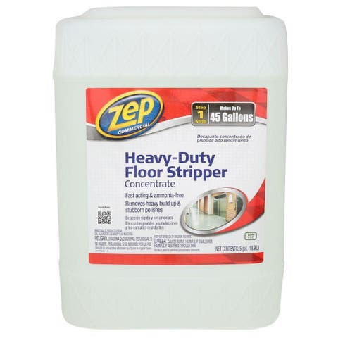 Zep Commercial ZULFFS5G Heavy Duty Floor Stripper Concentrate, 5-Gallon