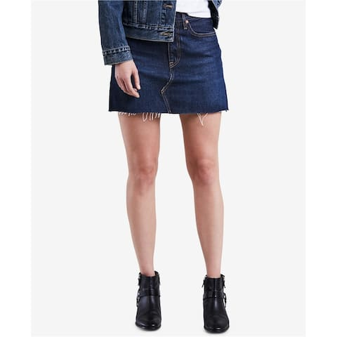 Levi's Womens Deconstructed Denim Skirt, Blue, 24