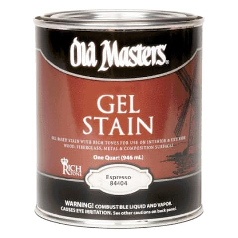 Old Masters 84404 Gel Stain, Expresso, Quart