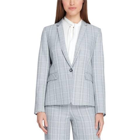 Tahari Womens Narrow-Notch One Button Blazer Jacket