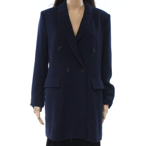 Halogen Navy Blue Womens Size Medium M Double Breasted Jacket