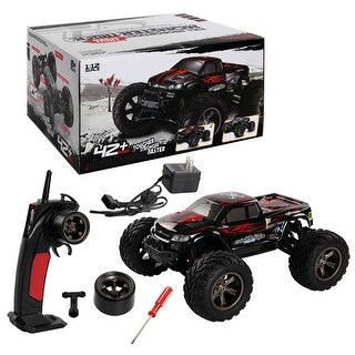 Costway 1:12 2.4G High Speed RC Monster Truck Remote Control Off Road Car RTR Toy - Red