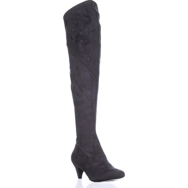 Impo Judy Embroidery Over The Knee Boots, Grey - 6 us