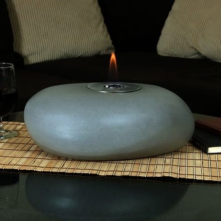 Sunnydaze Decorative Rock Bio Ethanol Tabletop Indoor Fireplace - 14-Inch