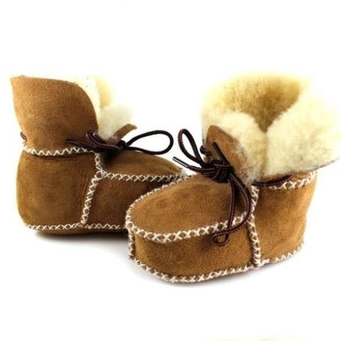Winter Surfer Baby Sheepskin Shearling Booties Suedel Wool Boots Infant Toddler Shoes
