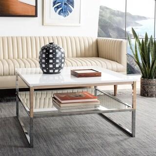 Safavieh Randi 2-Tier Modern Glam Square Coffee Table