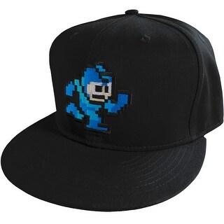 Capcom Mega Man Classic 8Bit Flat Brim Snapback Hat - Black