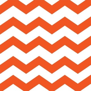 """Club Pack of 384 Sunkissed Orange Chevron and Dots Premium 2-Ply Disposable Lunch Napkins 6.5"""""""