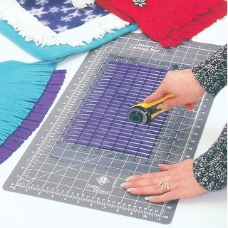 "Fringe Cut Slotted Ruler -6""X12"""