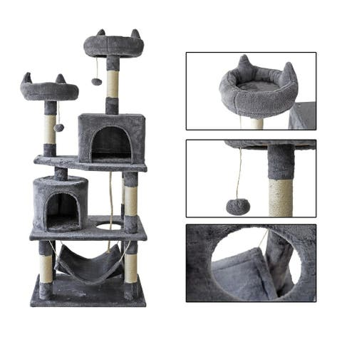 confote 57'' Multi-Level Cat Tree Activity Tower Condo