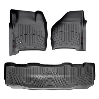 WeatherTech 44599-1-3 Black Front & Rear FloorLiner: Ford Transit Connect Wagon 2014 + Long Wheelbase
