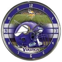 Minnesota Vikings Round Chrome Wall Clock