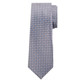 Marquis Men's Blue And Gray Checkered 3 1/4 Tie & Hanky Set TH100-009