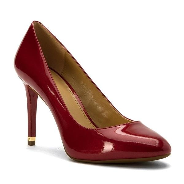 MICHAEL Michael Kors Womens Ashby Flex Pump Leather Closed Toe Classic Pumps