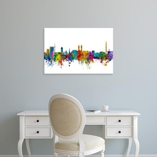 Easy Art Prints Michael Tompsett's 'Bremen Germany Skyline' Premium Canvas Art