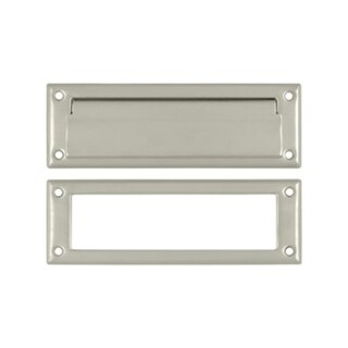 8.87 in. Mail Slot with Interior Frame #44; Satin Nickel - Solid