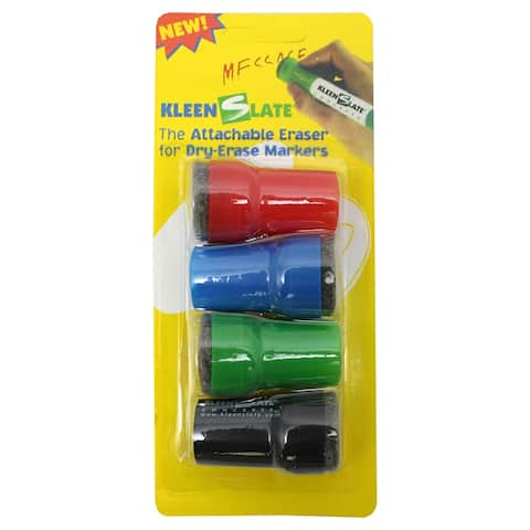 Kleenslate attachable erasers for dry erase 0832