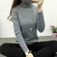 Styledome Women Turtleneck Sweater  Knitted Pullovers