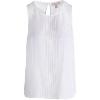 MICHAEL Michael Kors Womens Embellished Sheer Tank Top