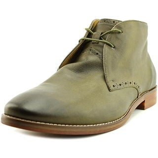 Cole Haan Cambridge Chukka Men Round Toe Leather Green Chukka Boot
