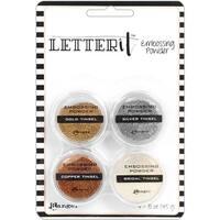 Tinsels - Ranger Letter It Embossing Powder Set