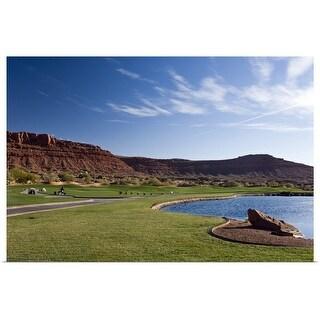 """Golf course, desert, St. George, Utah"" Poster Print"
