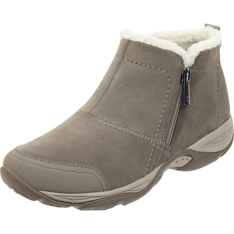 Easy Spirit Womens Embark Ankle Boots Suede Water Repellent