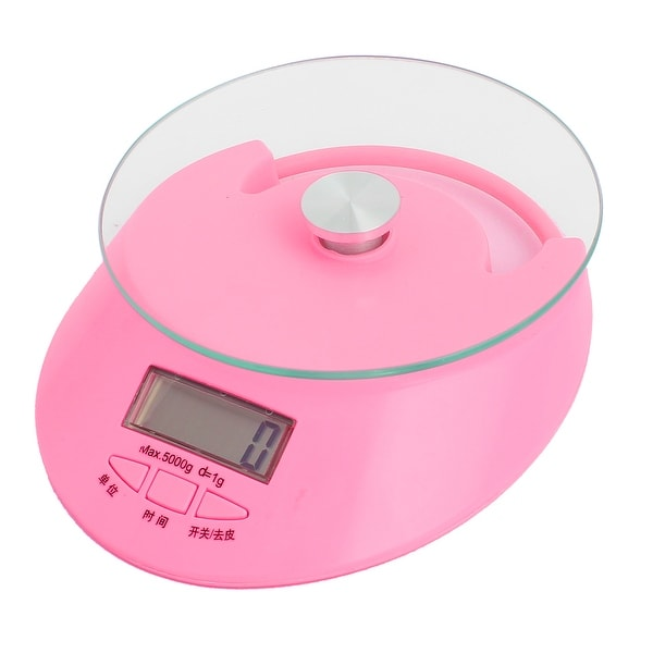Home Digital Electronic Scale Cooking Food Measurement Tool Fuchsia 5KG  Capacity