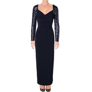 Lauren Ralph Lauren Womens Formal Dress Sequined Gathered