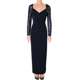 Lauren Ralph Lauren Womens Formal Dress Sequined Gathered