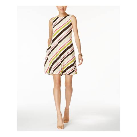 NINE WEST Ivory Sleeveless Above The Knee Dress 4