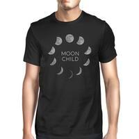Moon Child T-Shirt Cotton Black Funny Halloween Tee Shirt For Men