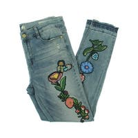 Banjara Womens Ankle Jeans Embroidered Distressed