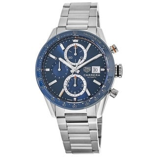 Link to Tag Heuer Men's CBM2112.BA0651 'Carrera' Chronograph Stainless Steel Watch - Blue Similar Items in Men's Watches