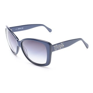 Just Cavalli Women's Classy Oversized Sunglasses Navy Blue - Small