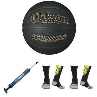 Wilson Evolution Black Edition Official Basketball Bundle