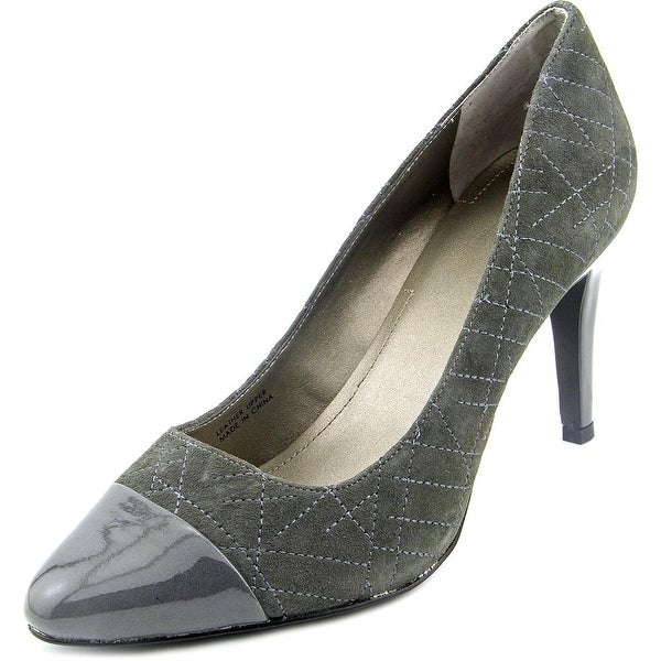 Tahari Ryanna Women Pointed Toe Suede Gray Heels