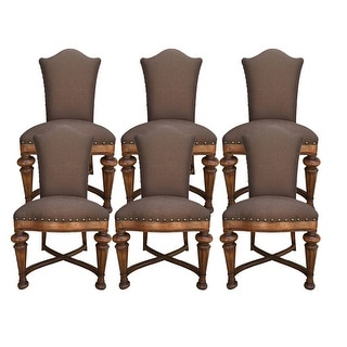 Aspen Road Dining Chair with Brown fabric - Set of 6