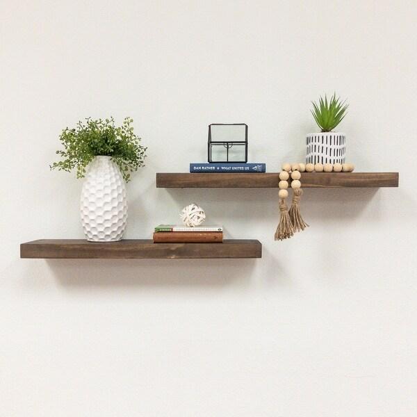 "Del Hutson Designs True Floating Shelves 24"", Set of 2"