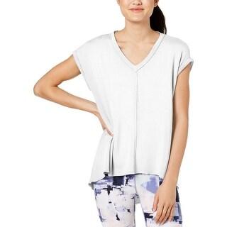 Calvin Klein Womens T-Shirt Hi-Low Short Sleeves
