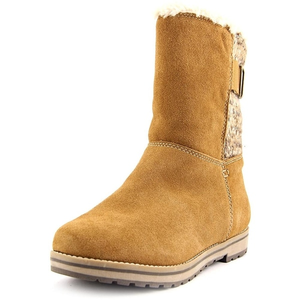 White Mountain Polarair Women Round Toe Suede Tan Winter Boot