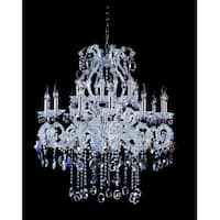 Allegri 10069 Lorrain 18-Light Two Tier Chandelier - Chrome with Firenze Mix Crystals - N/A